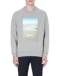 Acne Studios I Want More Cotton Sweatshirt - Lyst