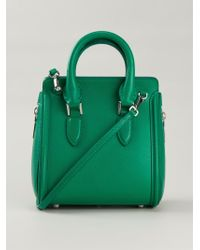Alexander McQueen Heroine Mini Calf-leather Shoulder Bag - Lyst