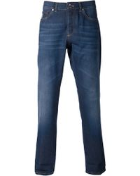 Brunello Cucinelli Medium Wash Denim Pant - Lyst