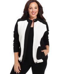 Jones New York Signature Plus Size Colorblocked Active Vest - Lyst