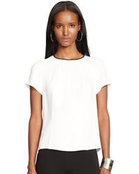 Ralph Lauren Black Label Short-Sleeved Merrill Top - Lyst