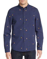 Alternative Apparel - Regular-fit Peach-print Cotton Sportshirt - Lyst