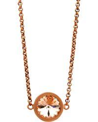 V By Valkeniers - Rose Gold Swarovski Necklace - Lyst