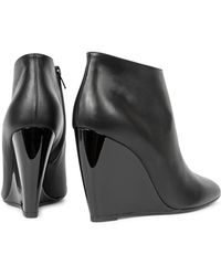 Pierre Hardy - Black Leather Wedge Ankle Boots - Lyst