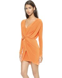 T-bags Long Sleeve Knot Dress - Persimmon - Lyst