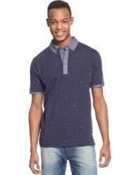 Sean John In The Cards Printed Polo - Lyst