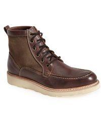 John Varvatos Combat Boots In Brown For Men Lyst