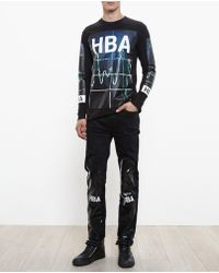 Hood By Air Monitor Print Long Sleeve Tshirt - Lyst