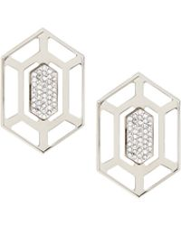 Vita Fede - Attura Sterling Silver Prism Stud Earrings - Lyst