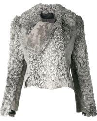 Proenza Schouler Swakara Fur Jacket - Gray
