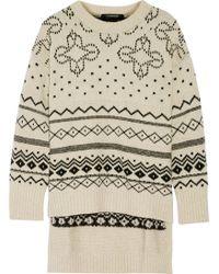 Thakoon - Fair Isle Oversized Merino Wool-blend Jumper - Lyst