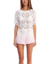 Loveshackfancy Vintage Lace Gypsy Top - Lyst