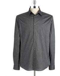 John Varvatos Solid Sports Shirt - Lyst