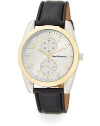 Saks Fifth Avenue - Two-tone Oval Mixed-media Watch - Lyst