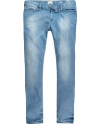 River Island | Light Blue Danny Super Skinny Jeans | Lyst