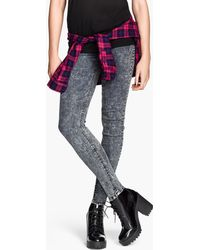 H&M Brogue Patterned Boots - Lyst