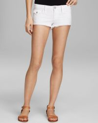 True Religion Joey Cutoff Shorts In Optic White
