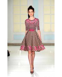Temperley London Carissa Jacquard Flare Dress - Lyst
