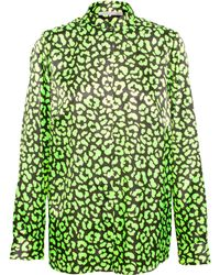 Christopher Kane Leopard Print Technofabric Shirt - Lyst