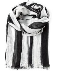 American Vintage Striped Fringed Scarf - Lyst