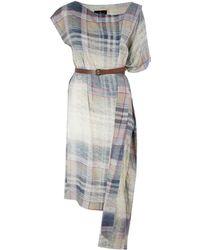 Vivienne Westwood Anglomania Grey Tartan Dress - Lyst