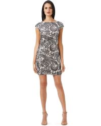 Adrianna Papell Plus Sequined Chiffon Cap Sleeve Dress - Lyst