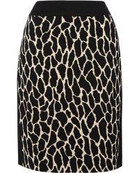 Gerry Weber - Animal Knitted Skirt - Lyst