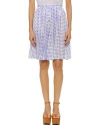 MINKPINK Gingham Skirt - Jacaranda Blue - Lyst