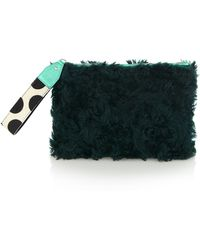 House of Holland Green Fur Bag Of Tricks - Lyst