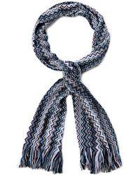 Missoni Wide Zigzag Knit Scarf - Lyst