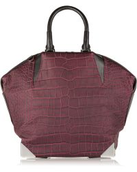 Alexander Wang Emile Prisma Croc-Effect Leather Tote - Lyst