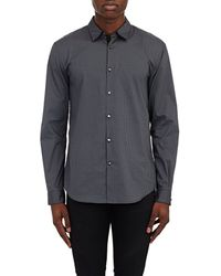 John Varvatos Stretch-Poplin Shirt black - Lyst