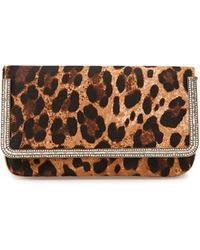 Judith Leiber Couture Carmichael Calf Hair Evening Clutch Bag - Lyst
