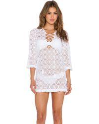 Miguelina Serena Crochet Lace Mini Dress - Lyst
