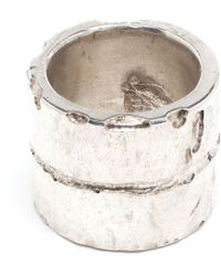 Parts Of Four Silver Plane Ring - Lyst