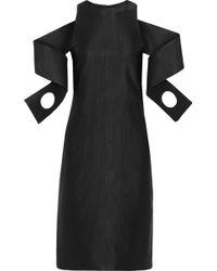 Christopher Kane Offtheshoulder Satinfaille Dress - Lyst
