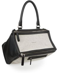Givenchy | Pandora Medium Leather & Canvas Shoulder Bag | Lyst