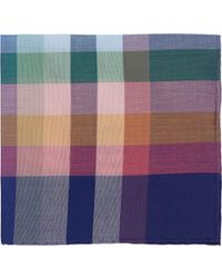Simonnot Godard Checked Handkerchief multicolor - Lyst