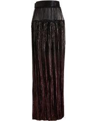 Haider Ackermann Pleated Lurex Skirt - Lyst