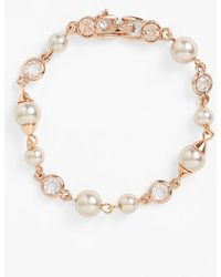 Givenchy Faux Pearl & Crystal Bracelet - Lyst