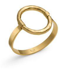 Tory Burch Oval Metal Bracelet - Lyst