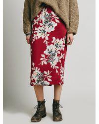 Free People Lax Print Skirt - Lyst