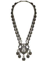 Topshop Freedom Found Leaf Drop Necklace - Lyst