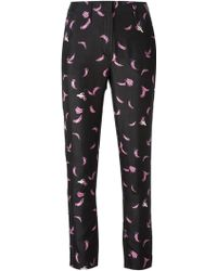 Sonia Rykiel Banana Print Trousers - Lyst