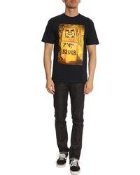 Obey Stencil Rackblue T-Shirt - Lyst