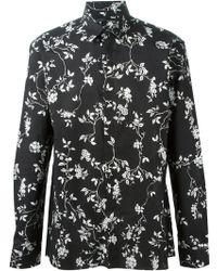 Haider Ackermann Floral Print Shirt - Lyst