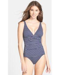 Tommy Bahama Stripe One-Piece Swimsuit - Lyst