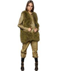 Sonia Rykiel - Marabou Feather Long Vest - Lyst