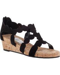 Vaneli For Jildor Kelcie Wedge Sandal Black Suede - Lyst