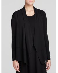 Eileen Fisher Drape Front Cardigan - Lyst